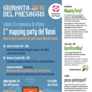 Mapping Party nel Vanoi