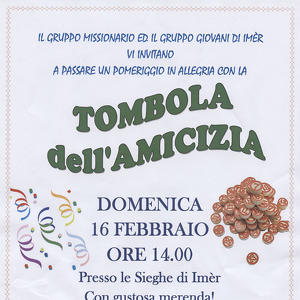 Tombola dell'amicizia